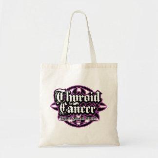 Thyroid Cancer Tribal Budget Tote Bag