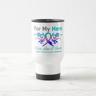 Thyroid Cancer Tribal Ribbon Hero Mug
