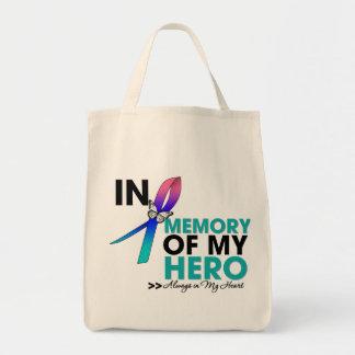 Thyroid Cancer Tribute In Memory of My Hero Tote Bag