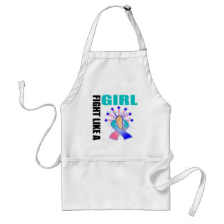 Thyroid Cancer Victory Fight Like A Girl Standard Apron