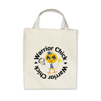 Thyroid Cancer Warrior Chick Tote Bags