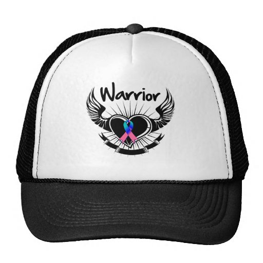 Thyroid Cancer Warrior Fighter Wings Hats