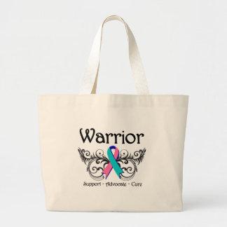 Thyroid Cancer Warrior Scroll Jumbo Tote Bag
