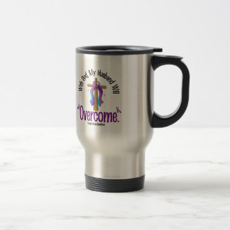 Thyroid Cancer With God My Husband Will Overcome Stainless Steel Travel Mug