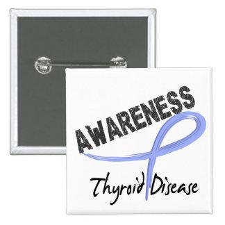 Thyroid Disease Awareness 3 15 Cm Square Badge