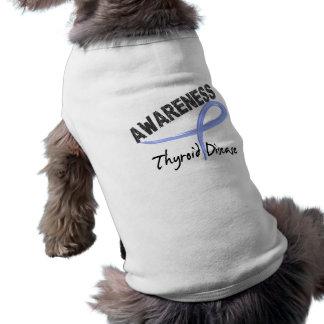 Thyroid Disease Awareness 3 Doggie Tshirt