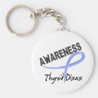 Thyroid Disease Awareness 3 Key Chain