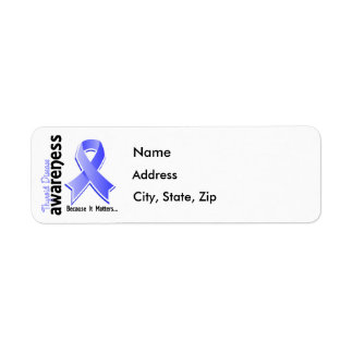 Thyroid Disease Awareness 5 Return Address Label