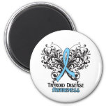 Thyroid Disease Awareness Butterfly 6 Cm Round Magnet