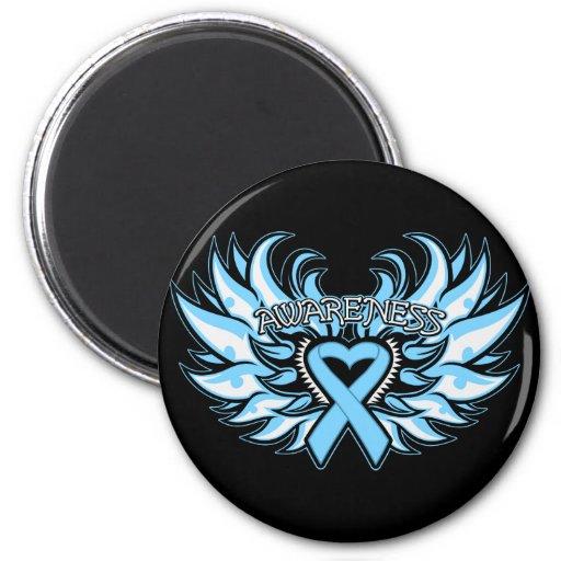Thyroid Disease Awareness Heart Wings.png 6 Cm Round Magnet