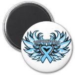 Thyroid Disease Awareness Heart Wings.png Fridge Magnets