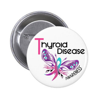 Thyroid Disease BUTTERFLY 3.1 6 Cm Round Badge