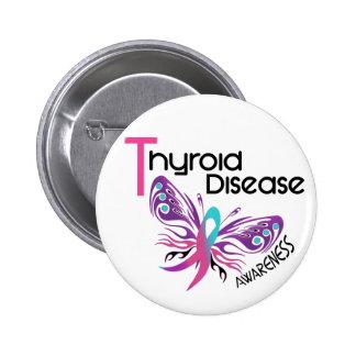 Thyroid Disease BUTTERFLY 3.1 6 Cm Round Badge