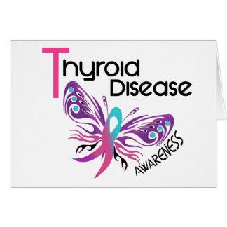 Thyroid Disease BUTTERFLY 3.1 Greeting Card