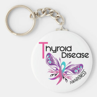 Thyroid Disease BUTTERFLY 3.1 Key Chains