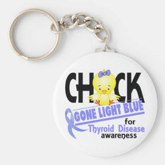 Thyroid Disease Chick Gone Light Blue 2 Basic Round Button Key Ring