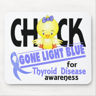 Thyroid Disease Chick Gone Light Blue 2 Mousepad