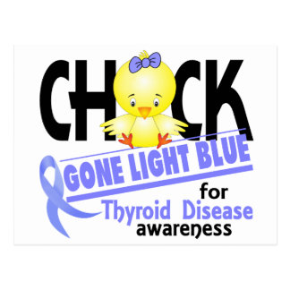 Thyroid Disease Chick Gone Light Blue 2 Postcard