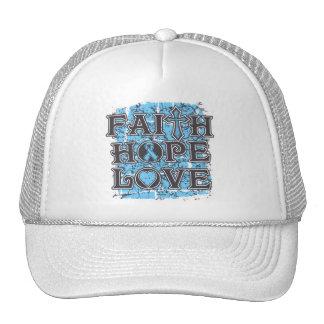 Thyroid Disease Faith Hope Love Mesh Hats