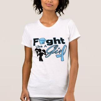 Thyroid Disease Fight Like A Girl Silhouette Tshirt