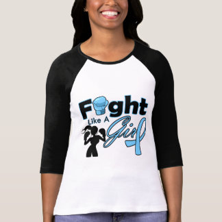 Thyroid Disease Fight Like A Girl Silhouette T Shirts