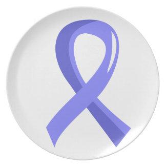 Thyroid Disease Light Blue Ribbon 3 Dinner Plate