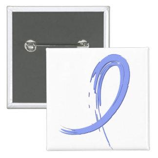 Thyroid Disease Light Blue Ribbon A4 15 Cm Square Badge