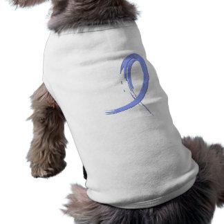 Thyroid Disease Light Blue Ribbon A4 Dog T Shirt