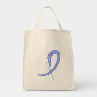 Thyroid Disease Light Blue Ribbon A4 Grocery Tote Bag