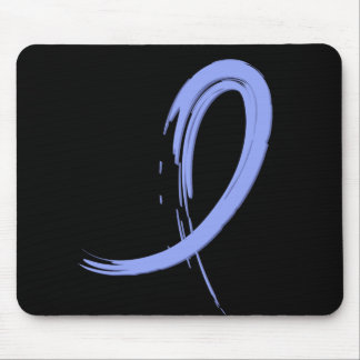 Thyroid Disease Light Blue Ribbon A4 Mouse Pad
