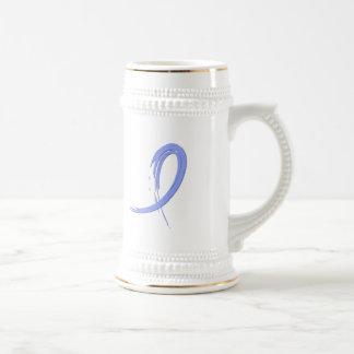 Thyroid Disease Light Blue Ribbon A4 Mug