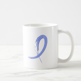 Thyroid Disease Light Blue Ribbon A4 Mugs