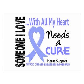 Thyroid Disease Needs A Cure 3 Postcard
