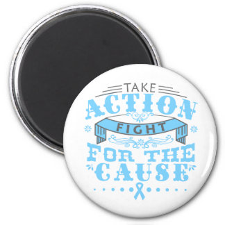 Thyroid Disease Take Action Fight For The Cause Refrigerator Magnet