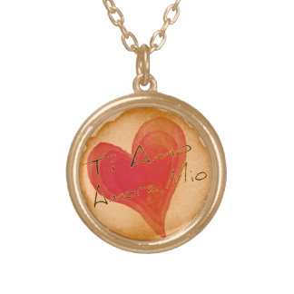 Ti Amo Amore Mio Gold Plated Necklace