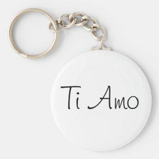 Ti Amo/I Love You Basic Round Button Key Ring