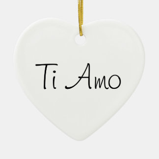 Ti Amo/I Love You Ceramic Heart Decoration