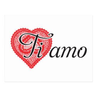Ti amo (Italian) Postcard