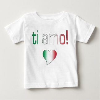 Ti Amo! Italy Flag Colors Baby T-Shirt