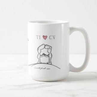 """""""TI heart CV """" Basic White Mug"""