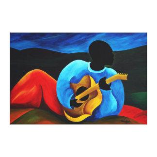 Ti-Jean le guitariste 2008 Canvas Print