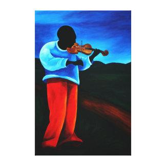 Ti-Jean le violoniste 2008 Canvas Prints
