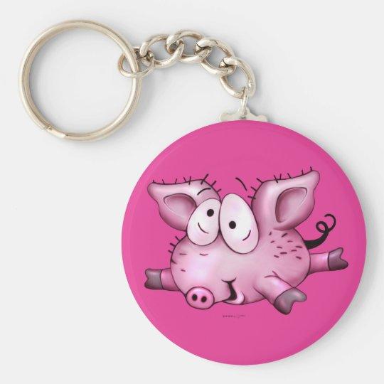 Ti-PIG BUTTON  KEYCHAIN BASIC