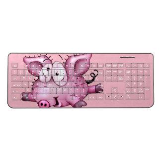 Ti-PIG CARTOON  Custom Wireless Keyboard