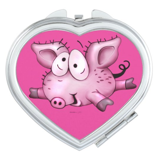 Ti-PIG CUTE CARTOON compact mirror HEART