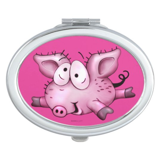 Ti-PIG CUTE CARTOON compact mirror OVAL