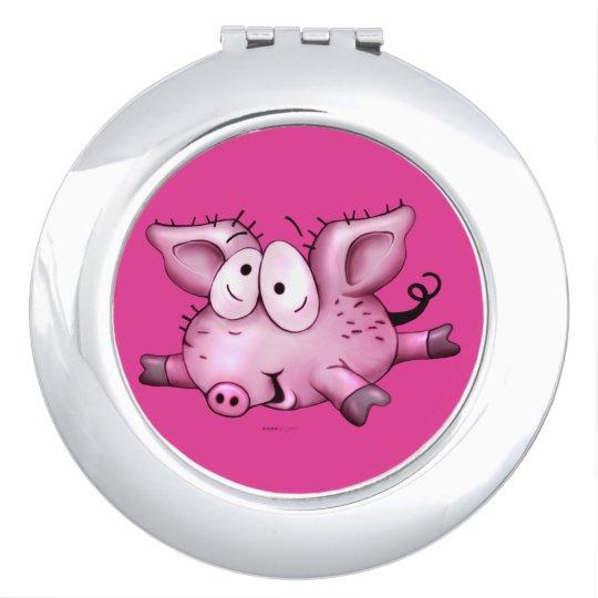 Ti-PIG CUTE CARTOON compact mirror ROUND