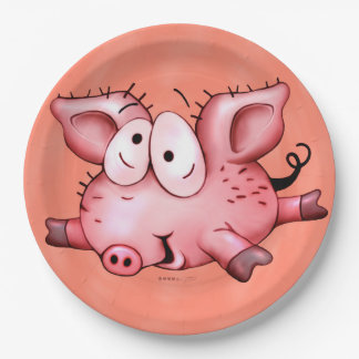 Ti Pig PLATE 9 INCHES Orange