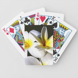 ti plant flowers yellow white black back jpg poker cards