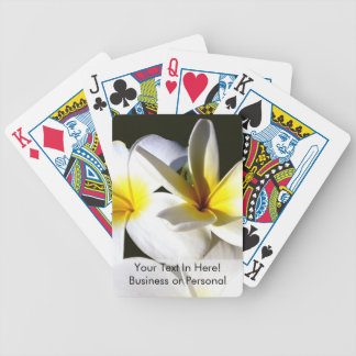 ti plant flowers yellow white black back jpg playing cards